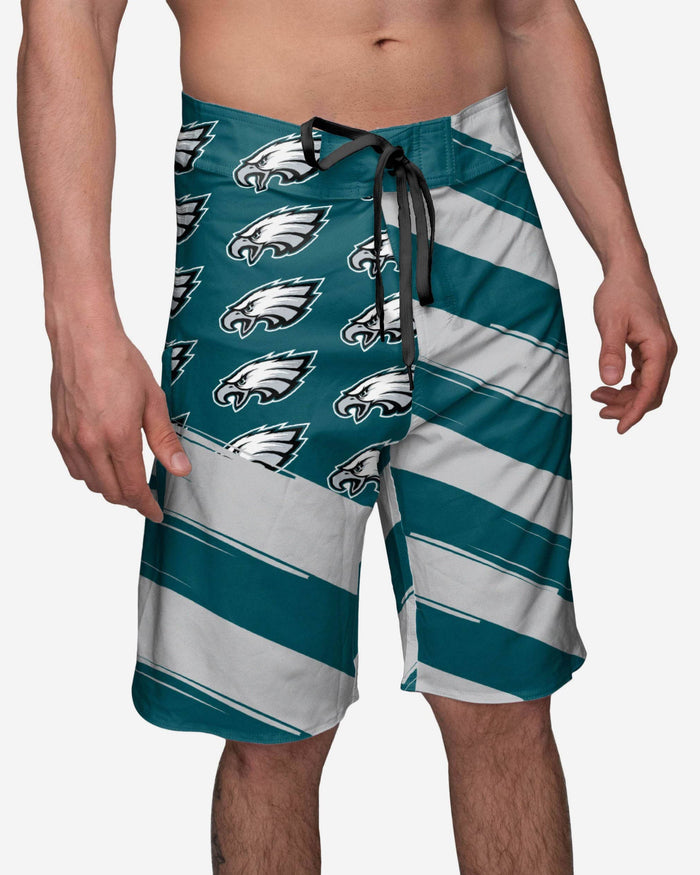 Philadelphia Eagles Diagonal Flag Boardshorts FOCO S - FOCO.com
