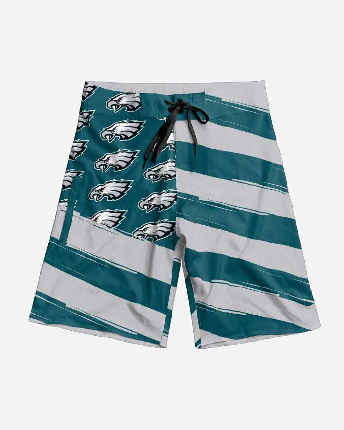 Philadelphia Eagles Diagonal Flag Boardshorts FOCO - FOCO.com