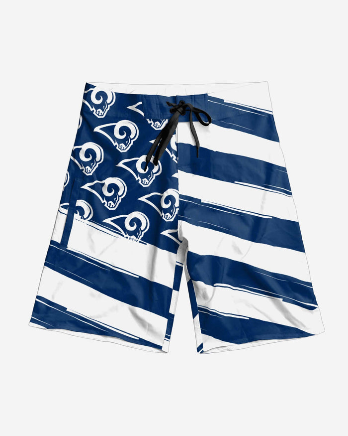 Los Angeles Rams Diagonal Flag Boardshorts FOCO - FOCO.com