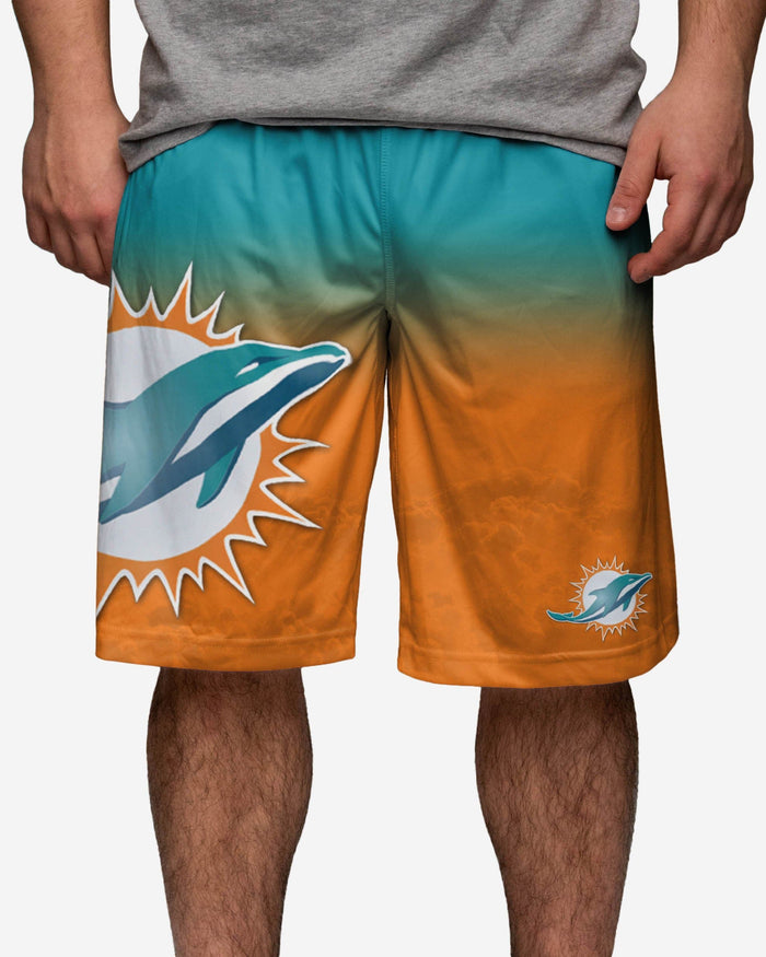 Miami Dolphins Gradient Big Logo Training Short FOCO - FOCO.com