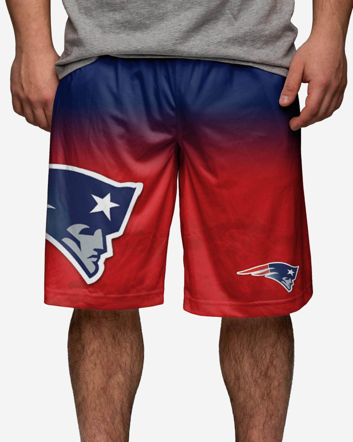 New England Patriots Gradient Big Logo Training Short FOCO - FOCO.com