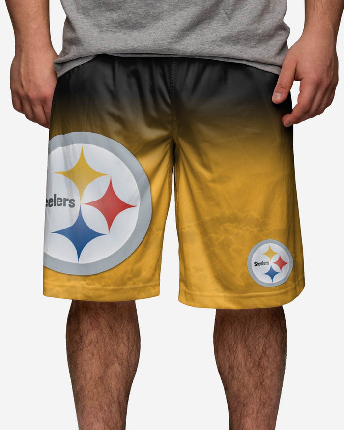 Pittsburgh Steelers Gradient Big Logo Training Short FOCO - FOCO.com
