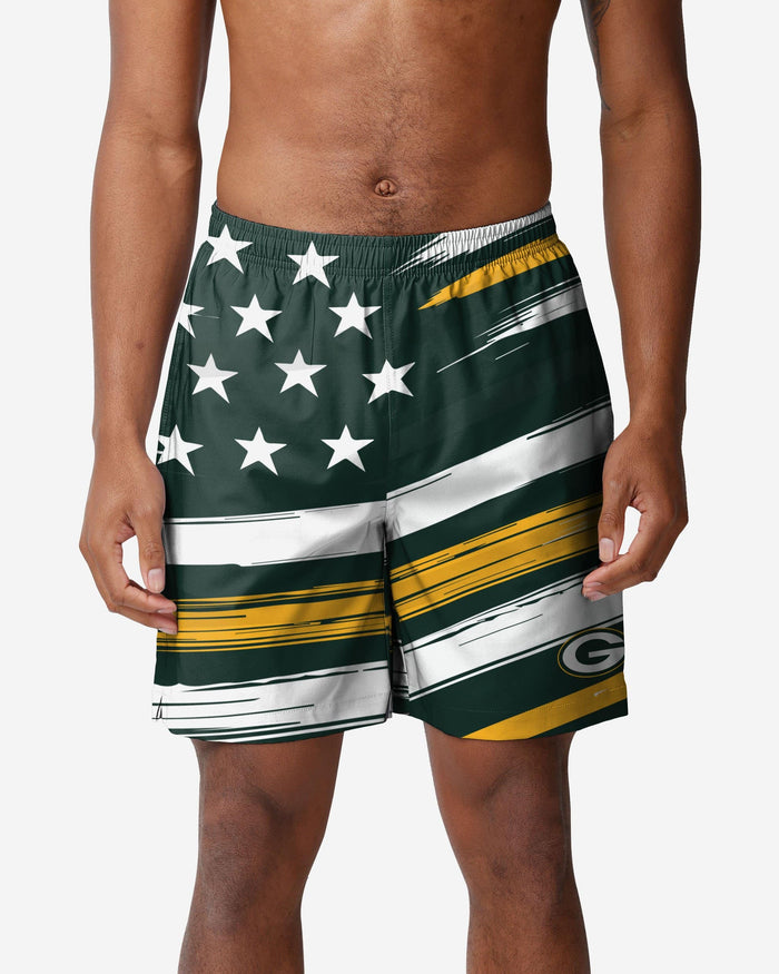Green Bay Packers Americana Swimming Trunks FOCO S - FOCO.com