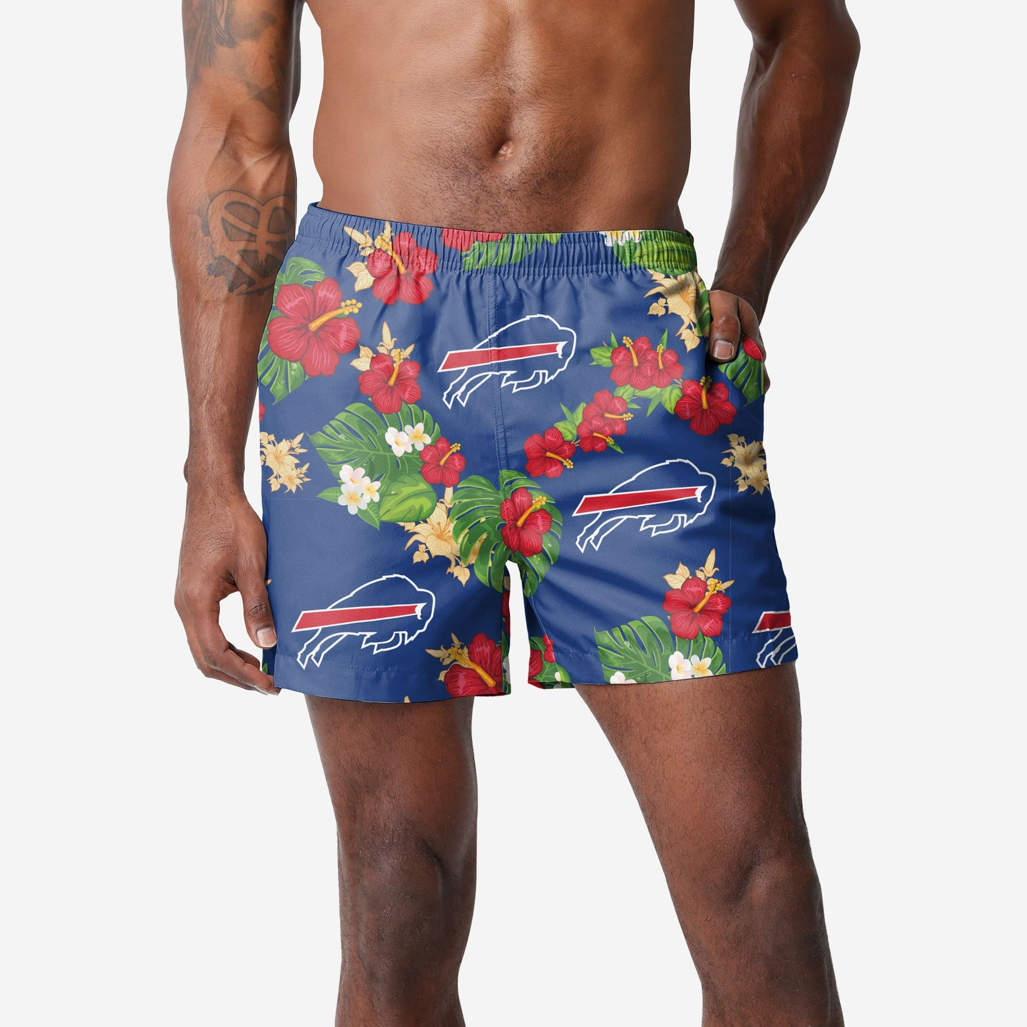 Buffalo Bills Floral Swimming Trunks