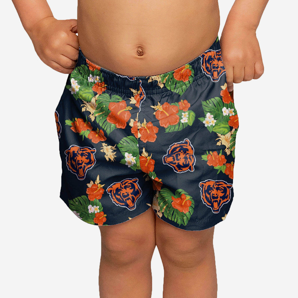 Chicago Bears Toddler Floral Swimming Trunks FOCO - FOCO.com