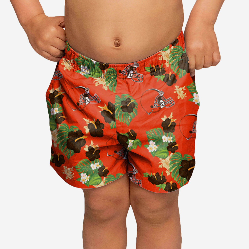 Cleveland Browns Toddler Floral Swimming Trunks FOCO 2T - FOCO.com