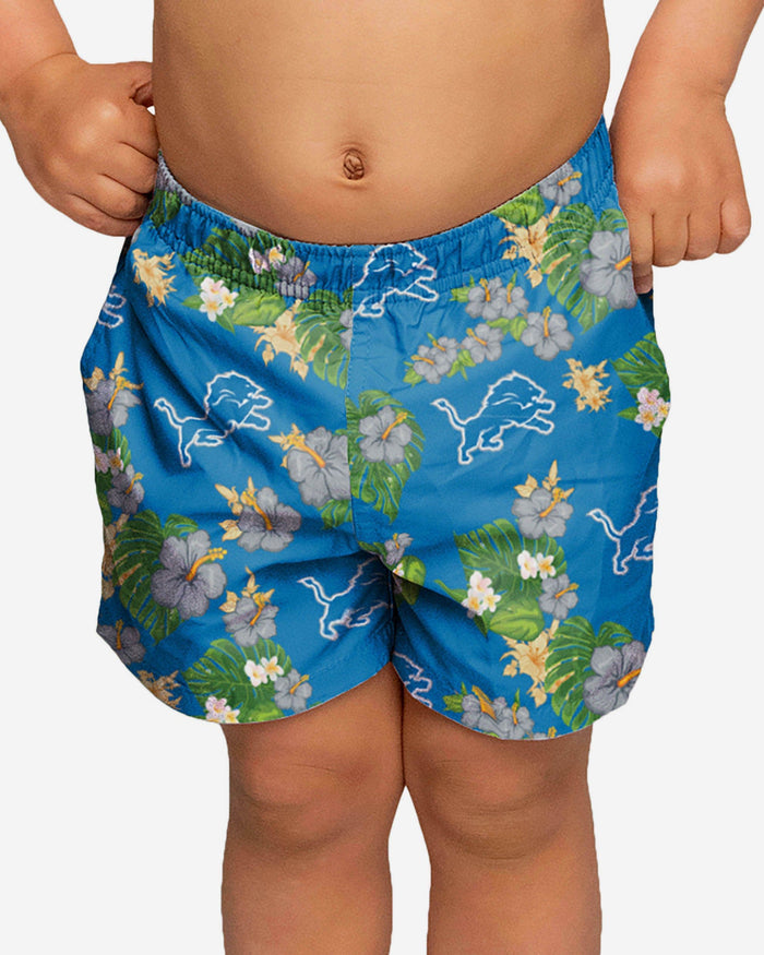 Detroit Lions Toddler Floral Swimming Trunks FOCO 2T - FOCO.com