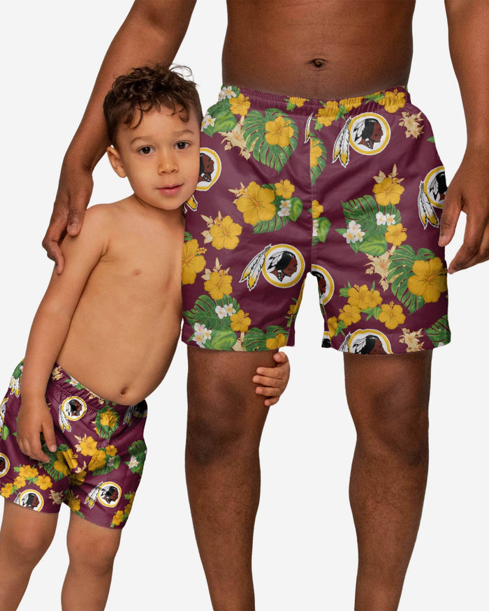 Washington Redskins Toddler Floral Swimming Trunks FOCO - FOCO.com