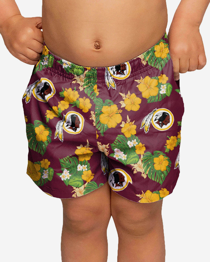 Washington Redskins Toddler Floral Swimming Trunks FOCO 2T - FOCO.com