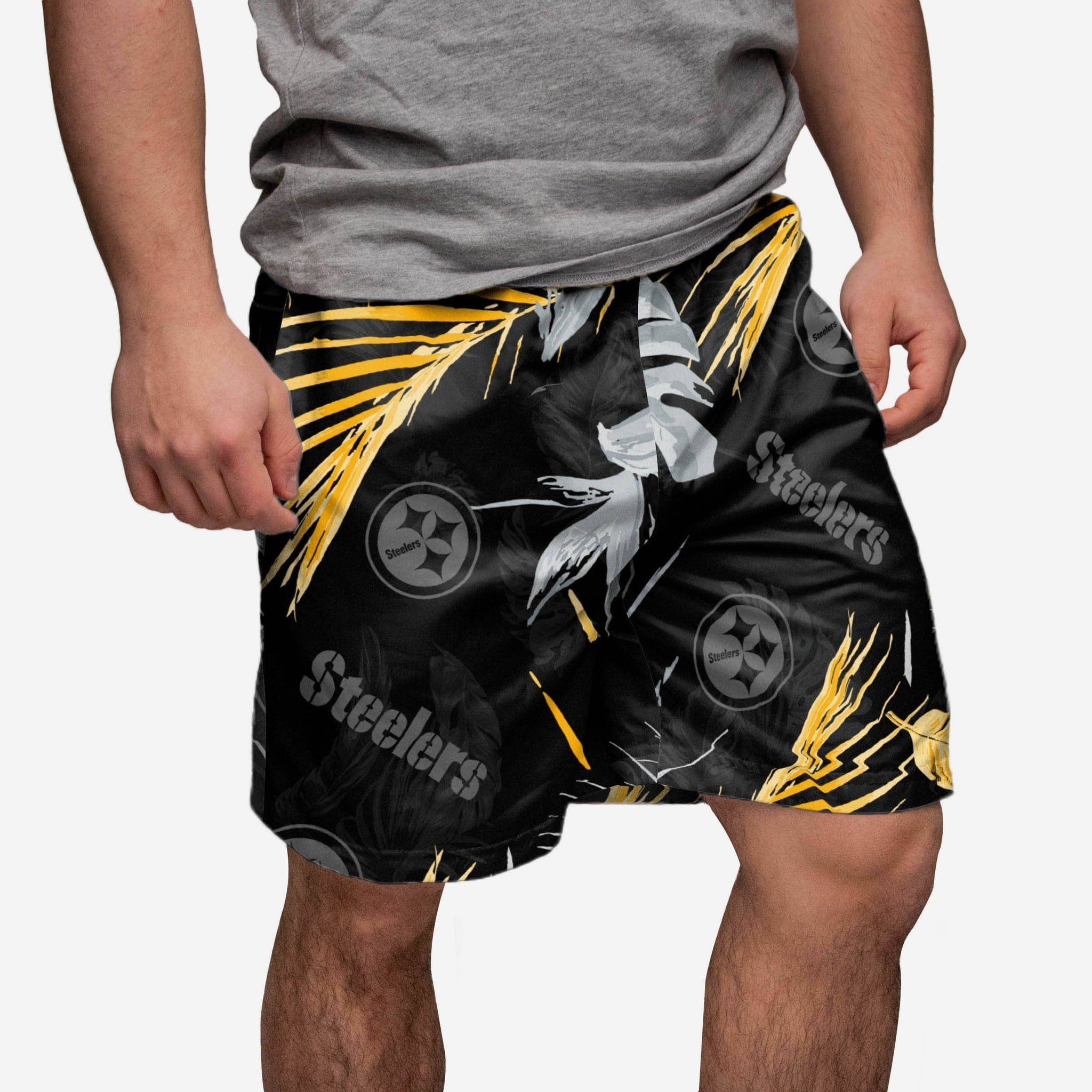 Pittsburgh Steelers Neon Palm Shorts FOCO - FOCO.com