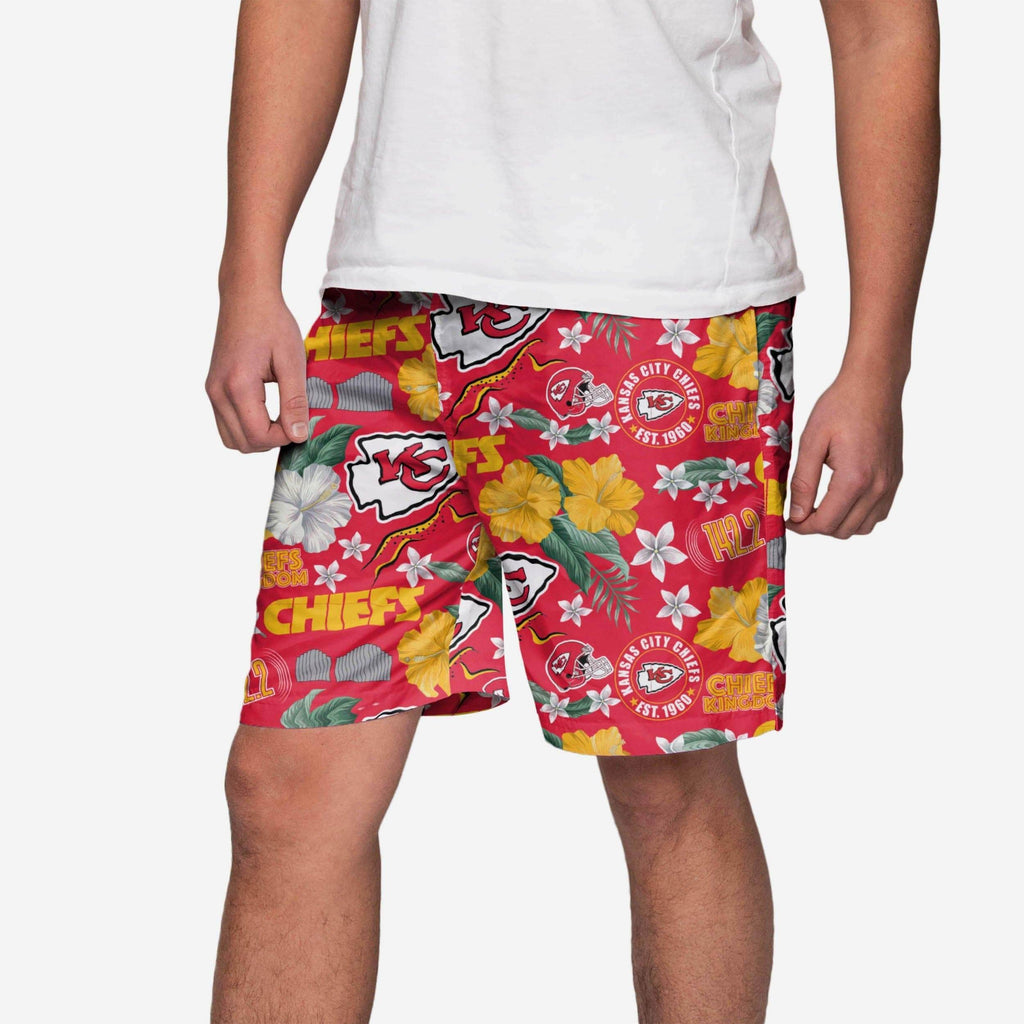 Kansas City Chiefs City Style Swimming Trunks FOCO - FOCO.com