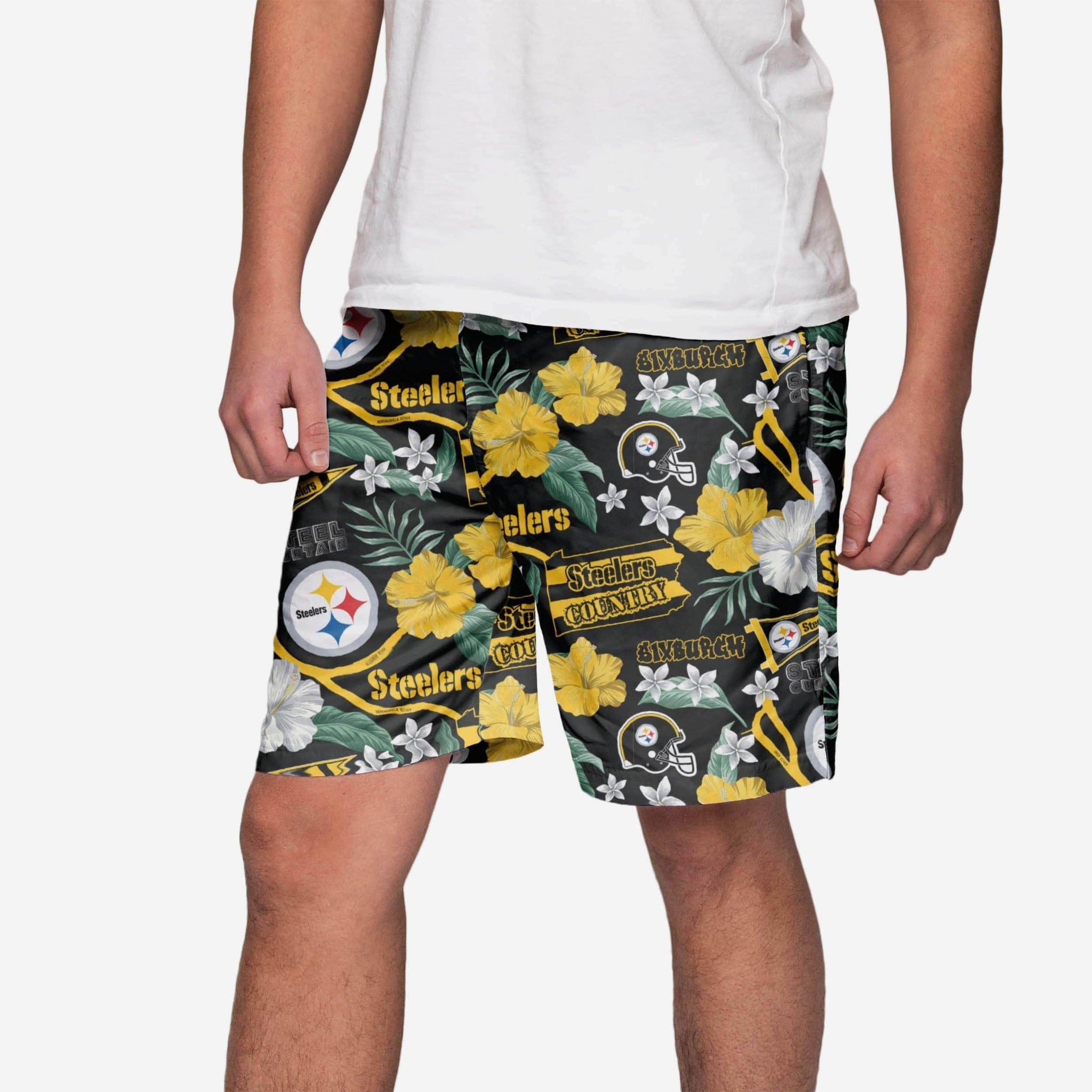 Pittsburgh Steelers City Style Swimming Trunks FOCO - FOCO.com