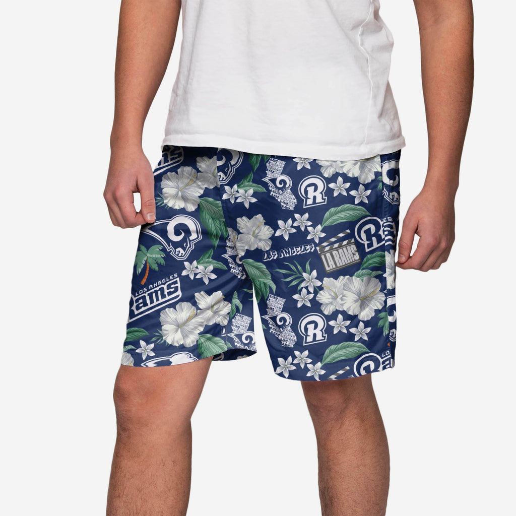 Los Angeles Rams City Style Swimming Trunks FOCO - FOCO.com