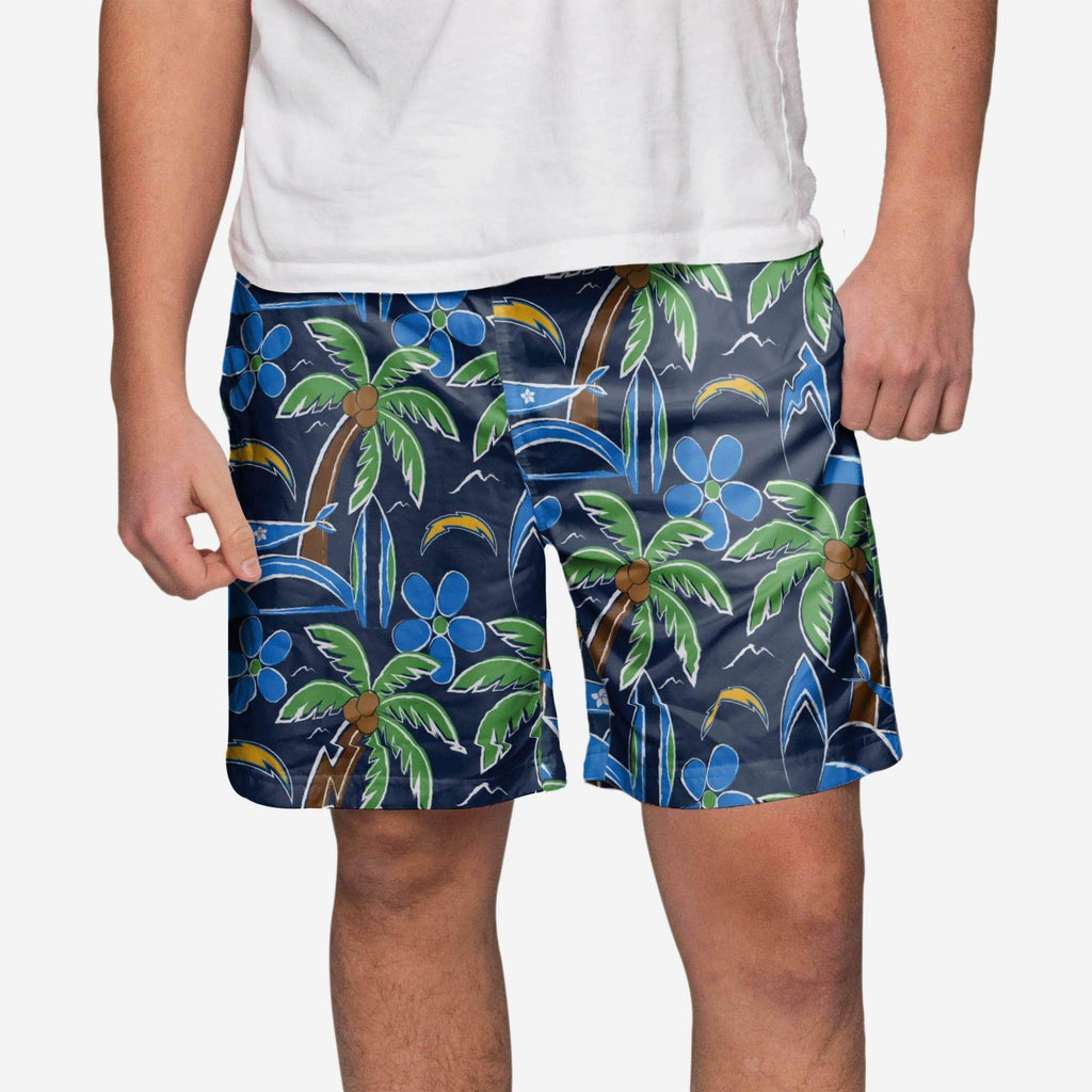 Los Angeles Chargers Tropical Swimming Trunks FOCO - FOCO.com