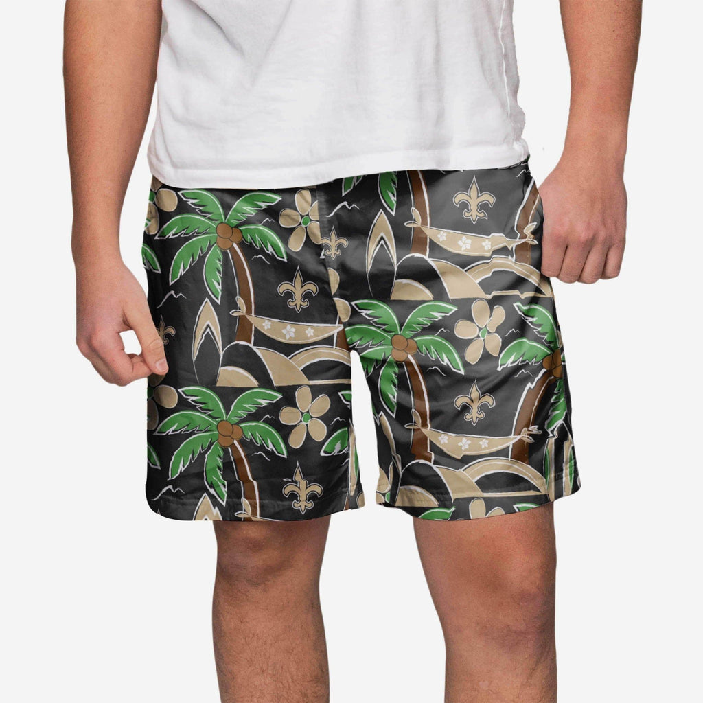 New Orleans Saints Tropical Swimming Trunks