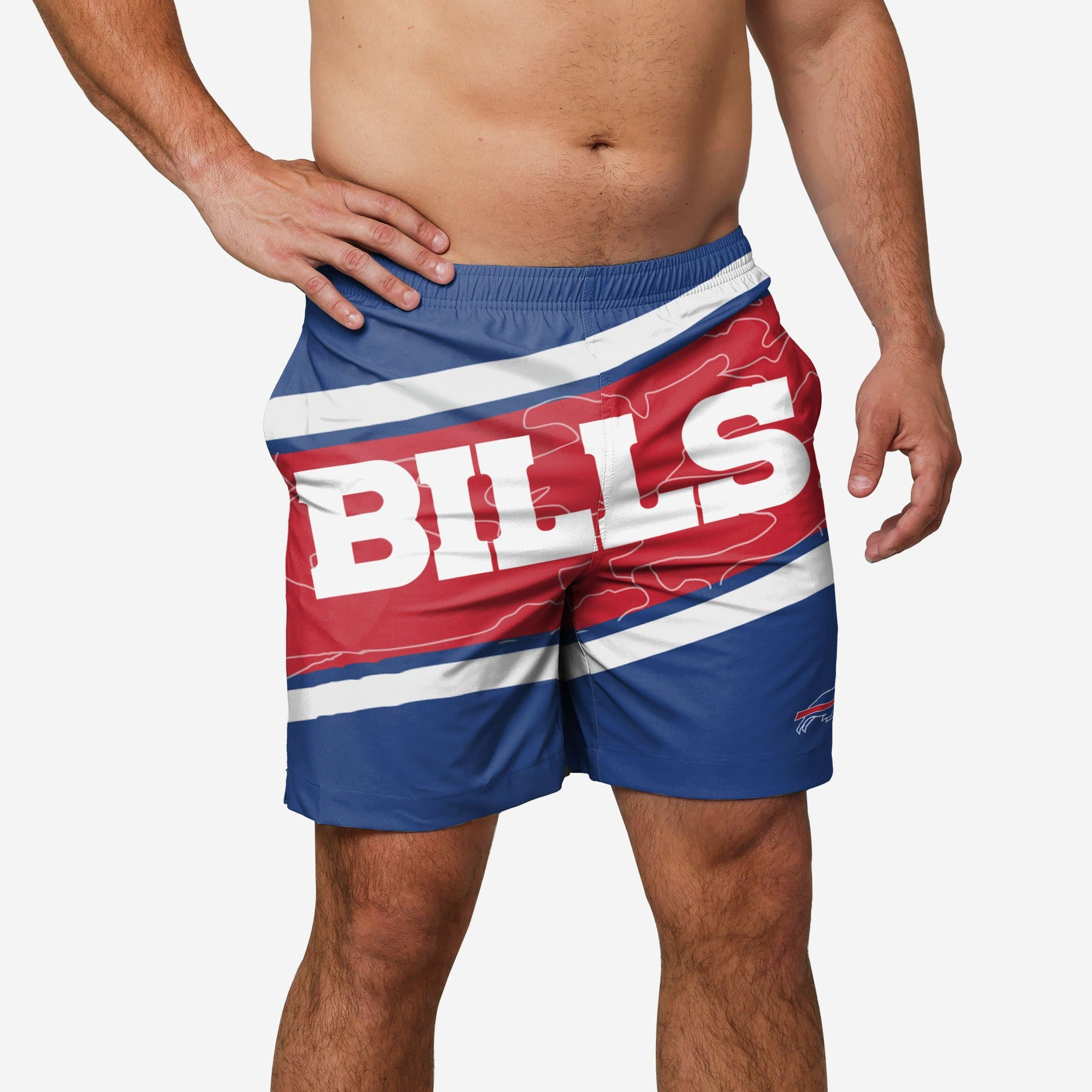 Buffalo Bills Big Wordmark Swimming Trunks FOCO - FOCO.com