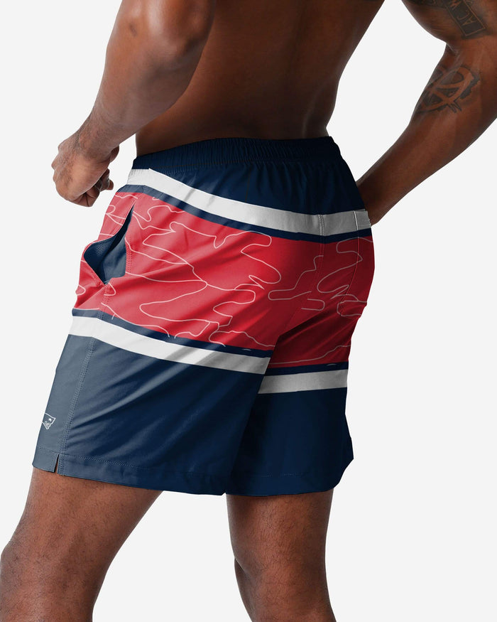 New England Patriots Big Wordmark Swimming Trunks FOCO S - FOCO.com