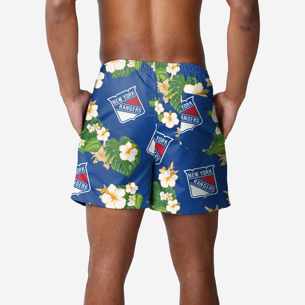 New York Rangers Floral Swimming Trunks FOCO - FOCO.com