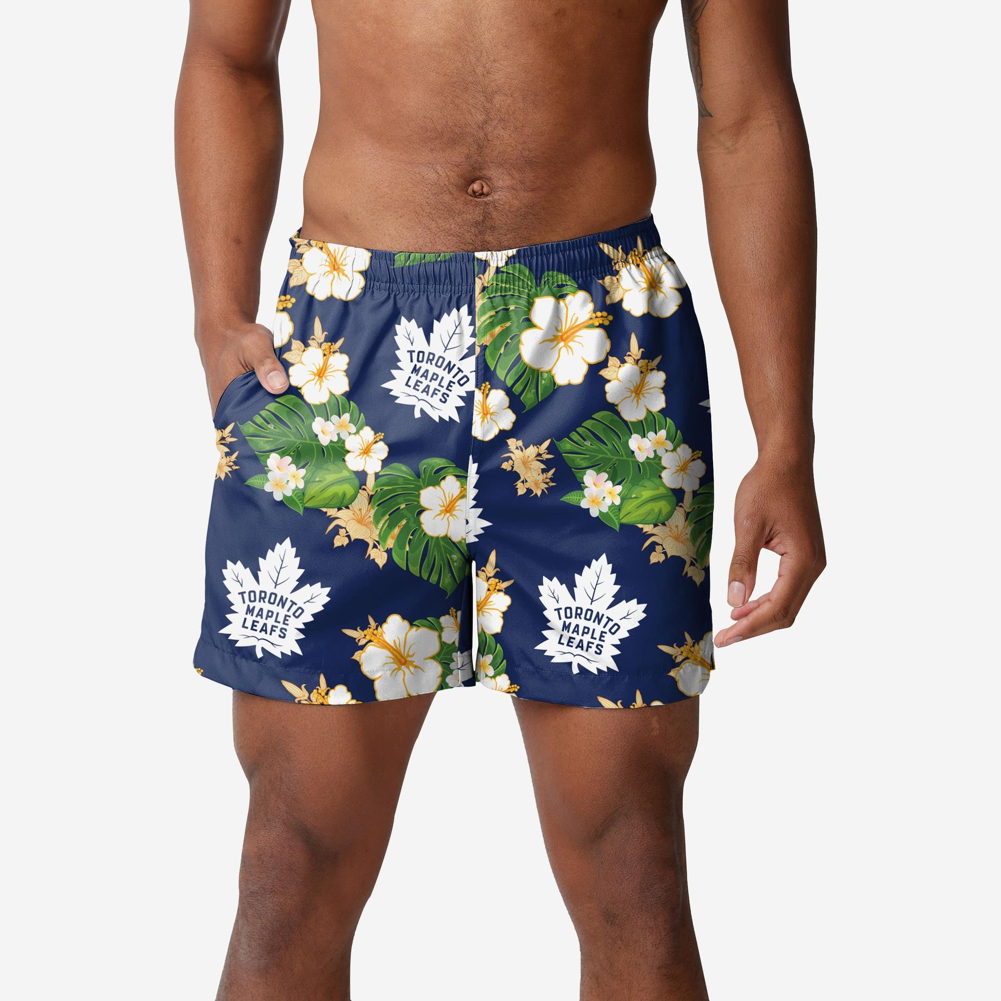 Toronto Maple Leafs Floral Swimming Trunks FOCO - FOCO.com