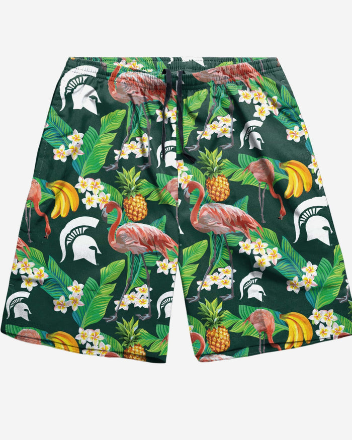 Michigan State Spartans Floral Shorts FOCO - FOCO.com