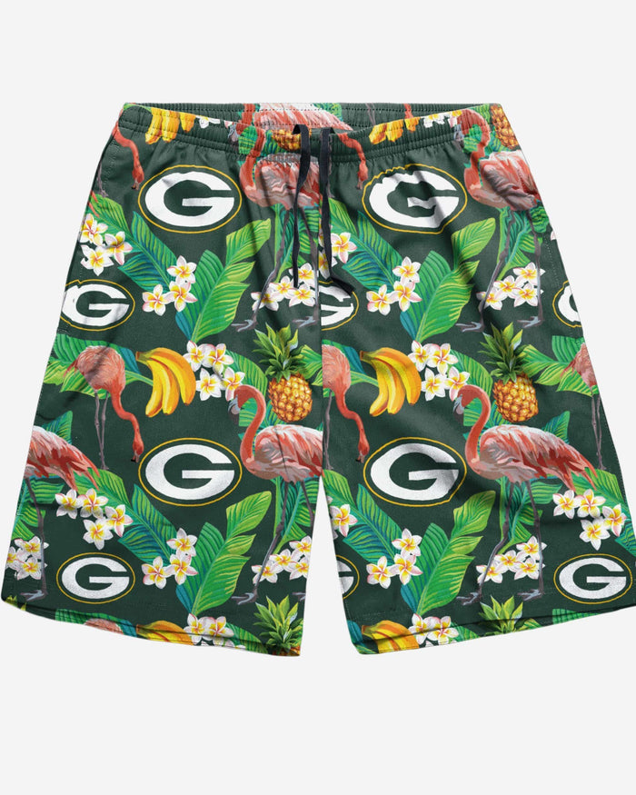 Green Bay Packers Floral Shorts FOCO - FOCO.com