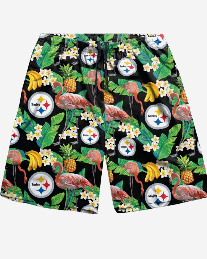 Pittsburgh Steelers Floral Shorts FOCO - FOCO.com