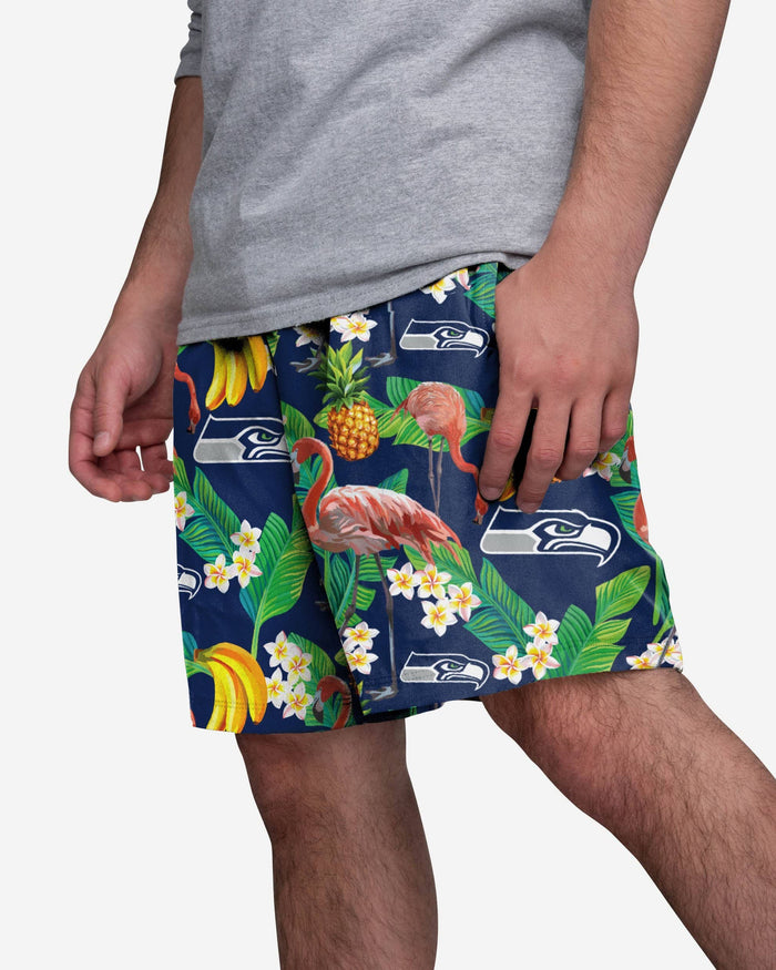 Seattle Seahawks Floral Shorts FOCO S - FOCO.com