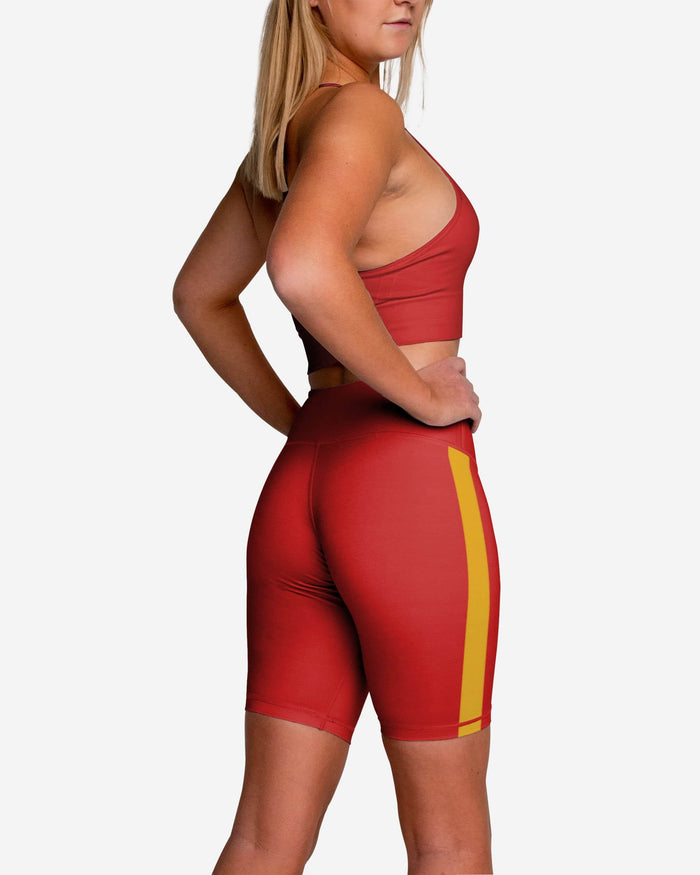 Kansas City Chiefs Striped Bike Shorts FOCO - FOCO.com