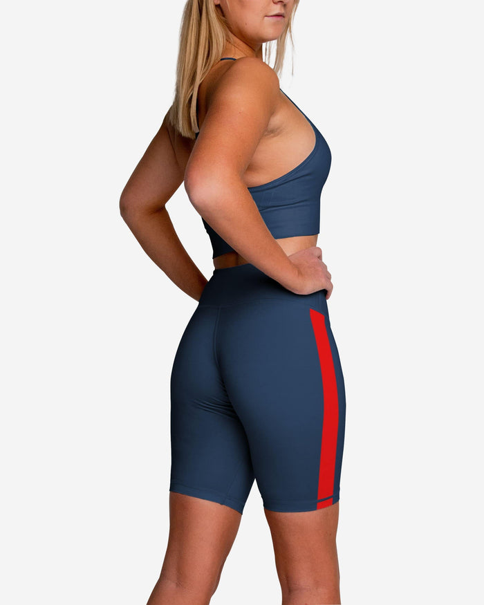 New England Patriots Striped Bike Shorts FOCO - FOCO.com
