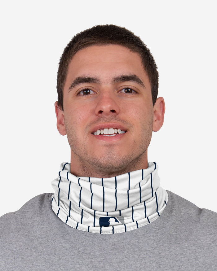 Gleyber Torres New York Yankees On-Field Gameday Pinstripe Stitched Gaiter Scarf FOCO - FOCO.com