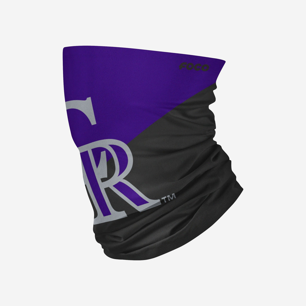 Colorado Rockies Big Logo Gaiter Scarf FOCO Adult - FOCO.com