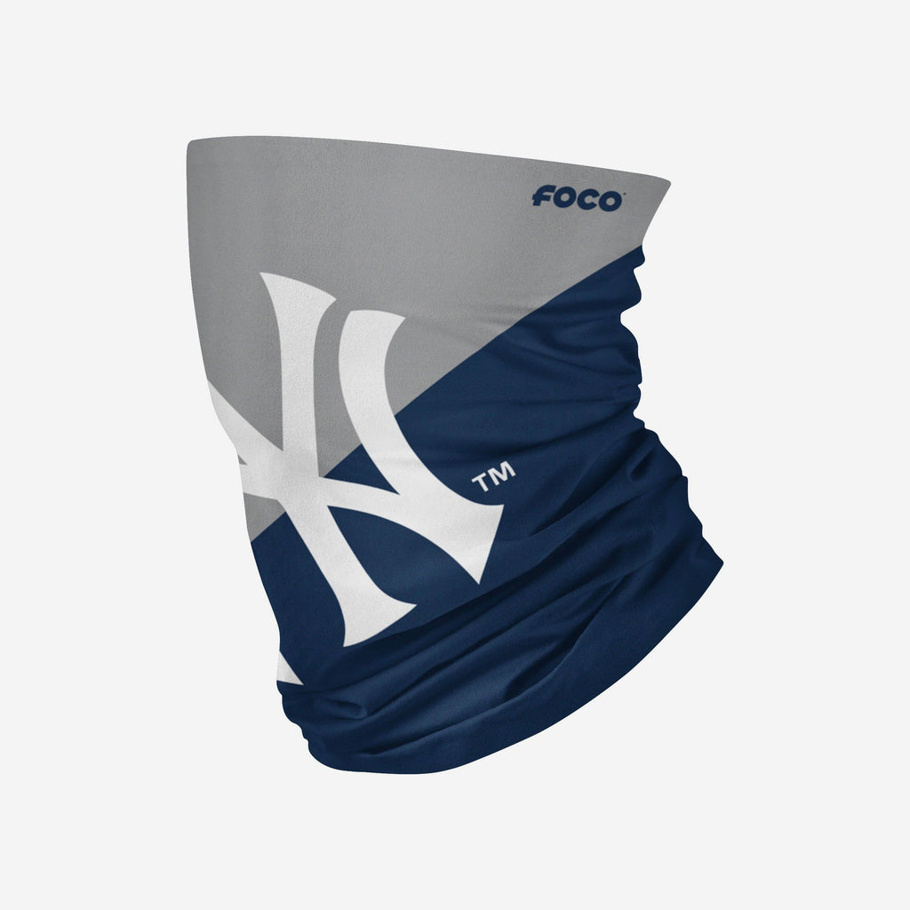 New York Yankees Big Logo Gaiter Scarf FOCO Adult - FOCO.com