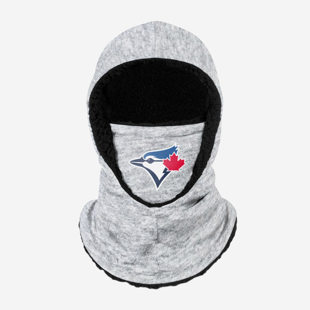 Toronto Blue Jays Heather Grey Big Logo Hooded Gaiter FOCO - FOCO.com