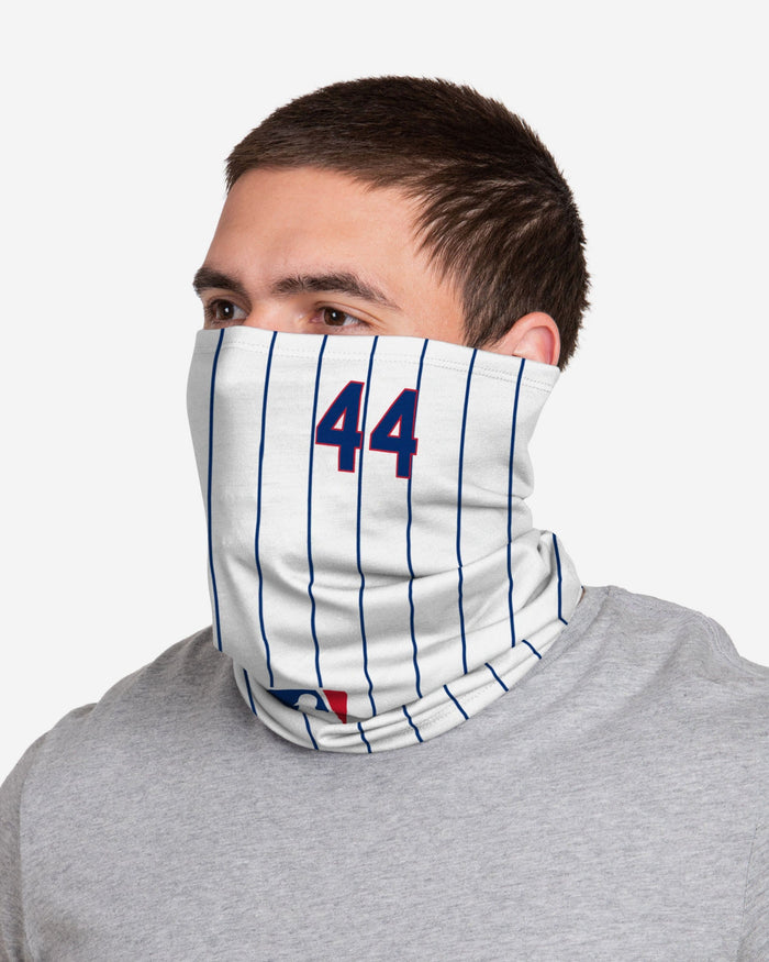 Anthony Rizzo Chicago Cubs On-Field Gameday Pinstripe Stitched Gaiter Scarf FOCO - FOCO.com