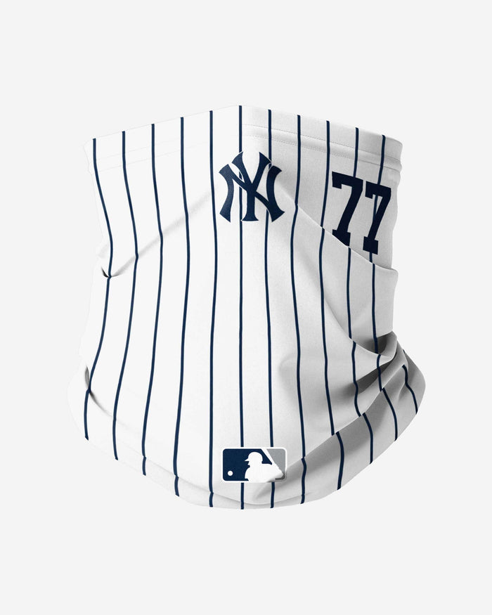 Clint Frazier New York Yankees On-Field Gameday Pinstripe Stitched Gaiter Scarf FOCO - FOCO.com