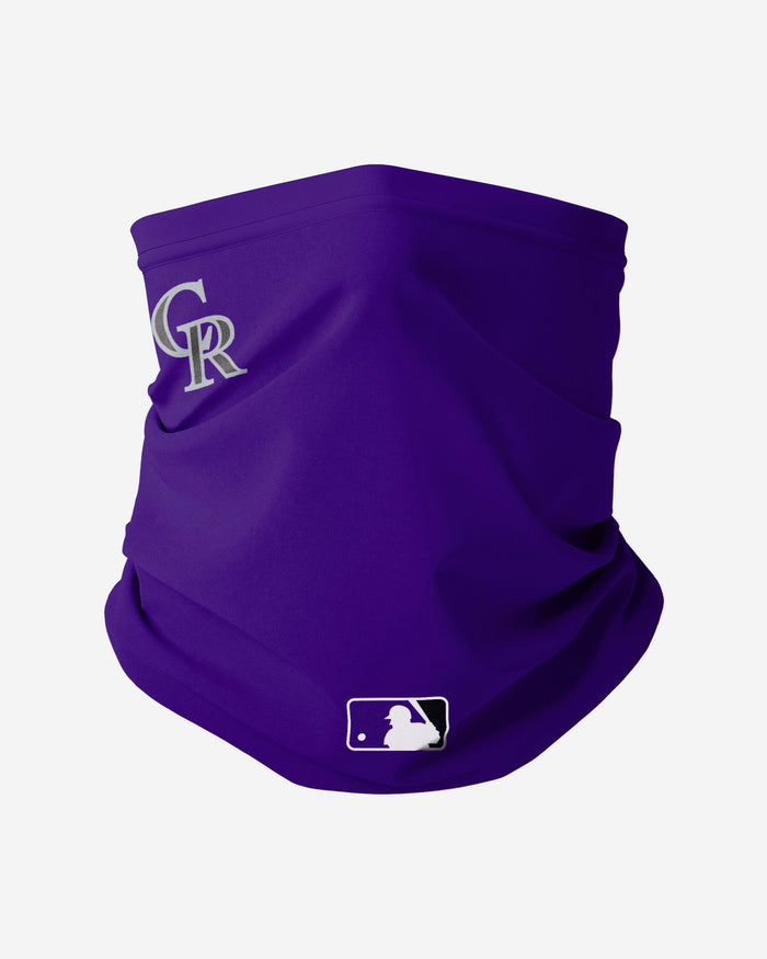 Colorado Rockies On-Field Gameday Gaiter Scarf FOCO - FOCO.com