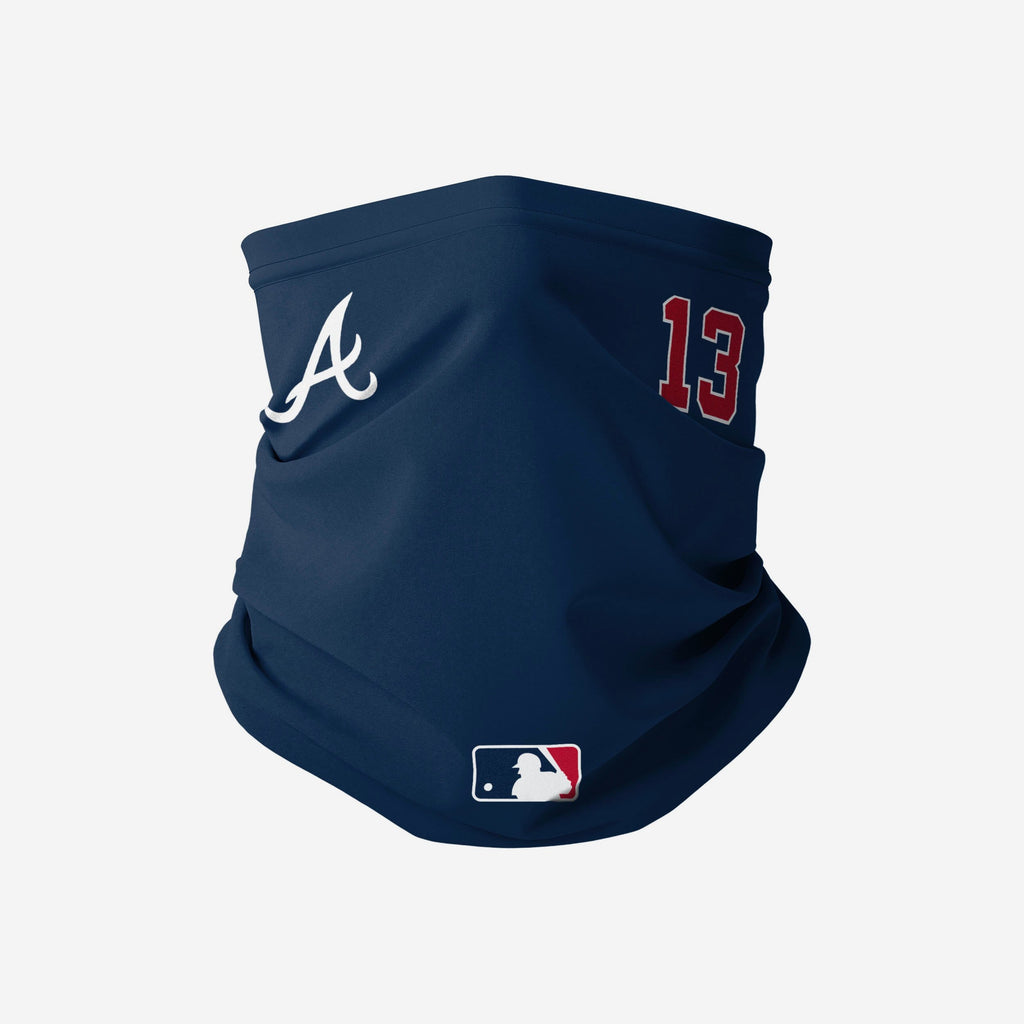 Ronald Acuna Jr Atlanta Braves On-Field Gameday Gaiter Scarf FOCO - FOCO.com