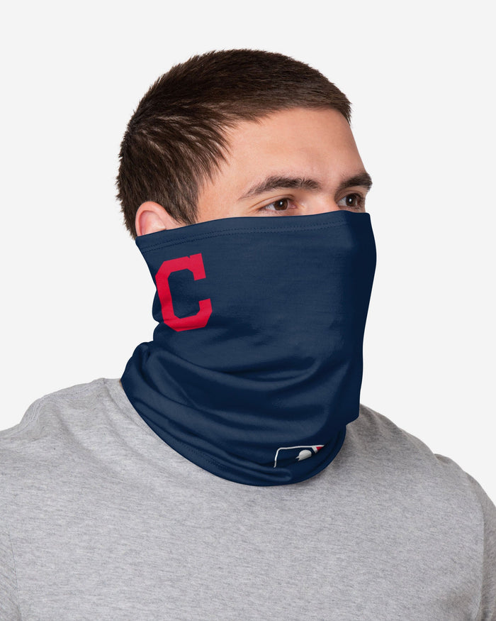 Francisco Lindor Cleveland Indians On-Field Gameday Gaiter Scarf FOCO - FOCO.com