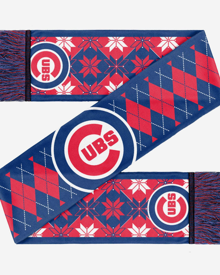 Chicago Cubs Reversible Ugly Scarf FOCO - FOCO.com