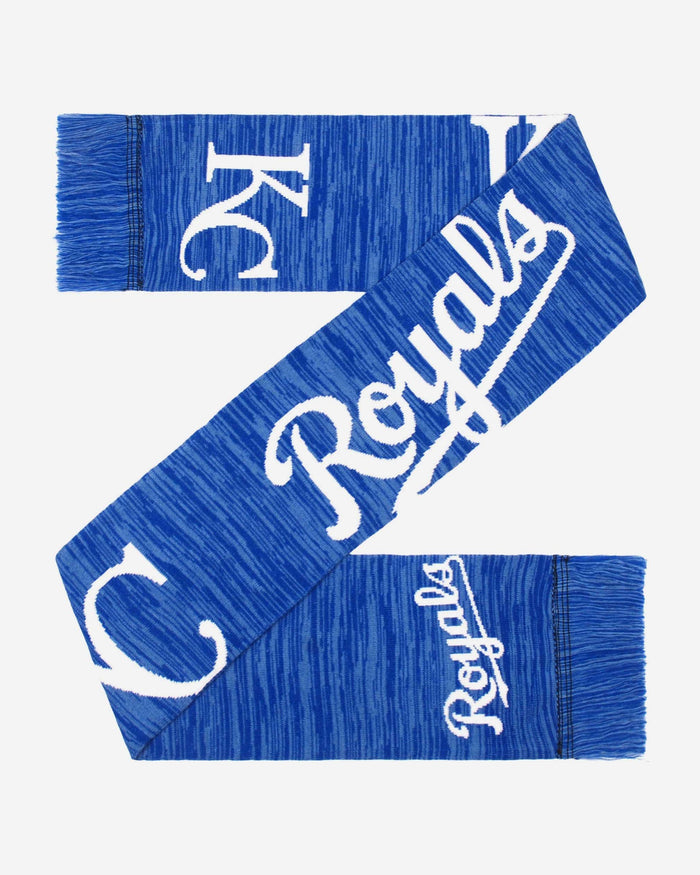 Kansas City Royals Wordmark Big Logo Colorblend Scarf FOCO - FOCO.com