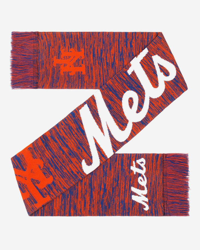 New York Mets Wordmark Big Logo Colorblend Scarf FOCO - FOCO.com