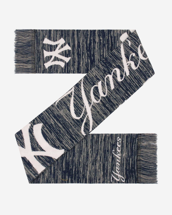 New York Yankees Wordmark Big Logo Colorblend Scarf FOCO - FOCO.com