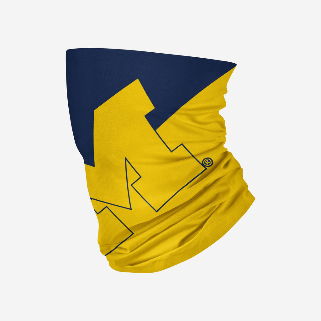 Michigan Wolverines Big Logo Gaiter Scarf FOCO - FOCO.com