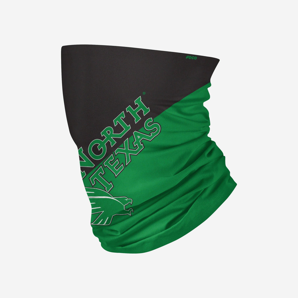 North Texas Mean Green Big Logo Gaiter Scarf FOCO - FOCO.com