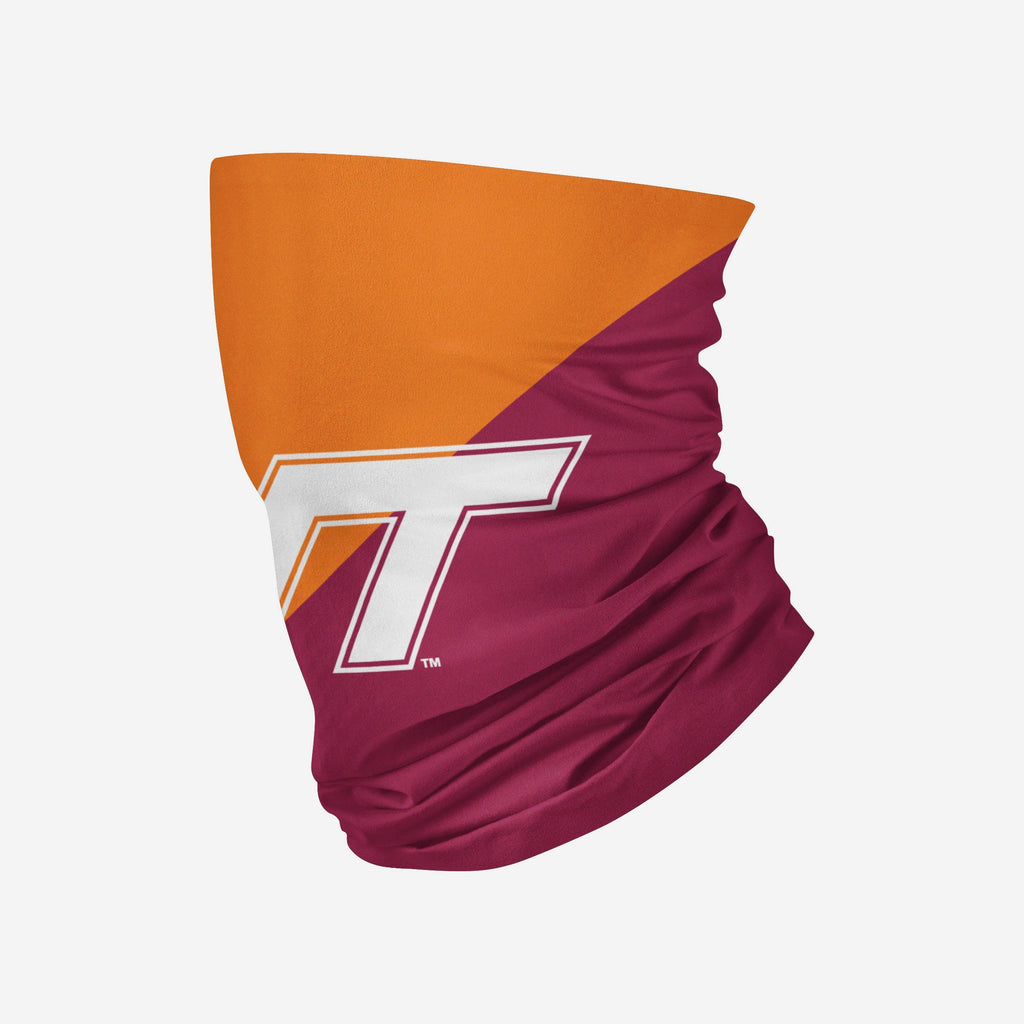 Virginia Tech Hokies Big Logo Gaiter Scarf FOCO - FOCO.com