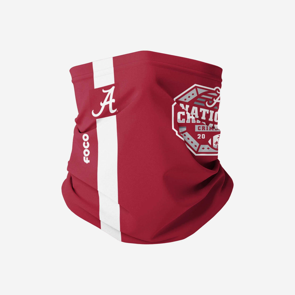 Alabama Crimson Tide 2020 Football National Champions Stitched Gaiter Scarf FOCO - FOCO.com