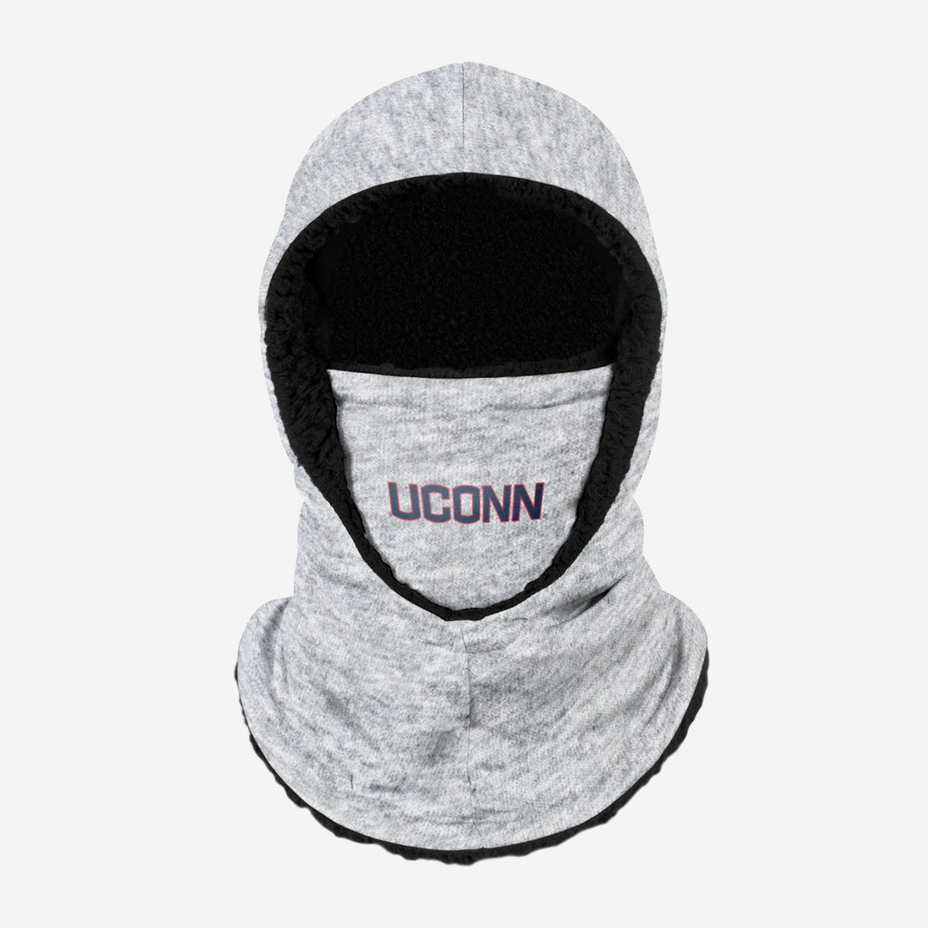 UConn Huskies Heather Grey Big Logo Hooded Gaiter FOCO - FOCO.com