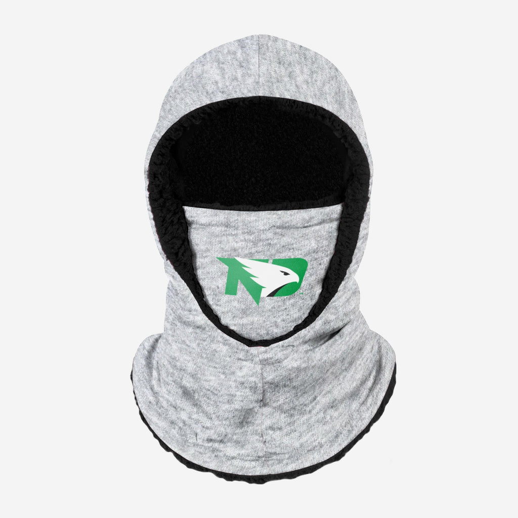 North Dakota Fighting Hawks Heather Grey Big Logo Hooded Gaiter FOCO - FOCO.com
