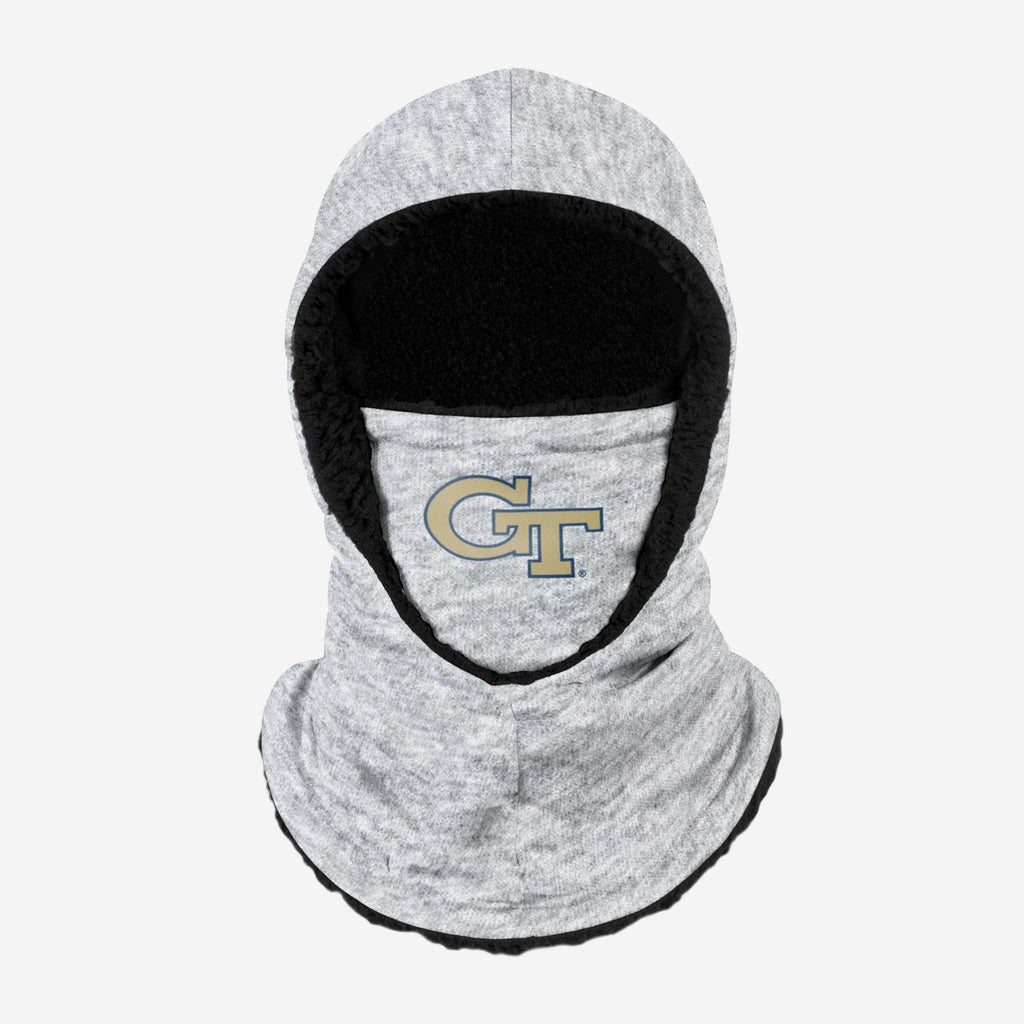 Georgia Tech Yellow Jackets Heather Grey Big Logo Hooded Gaiter FOCO - FOCO.com