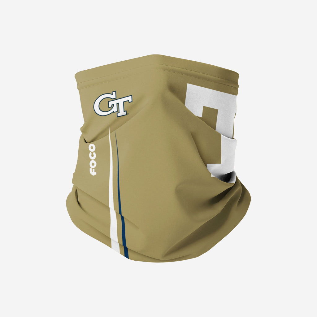 Georgia Tech Yellow Jackets On-Field Sideline Logo Alternative Gaiter Scarf FOCO - FOCO.com